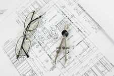 Free Drawings Of Building Royalty Free Stock Images - 14352619