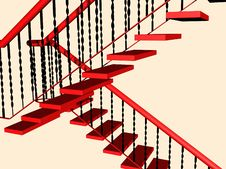 Free Red Stairs Stock Image - 14352661