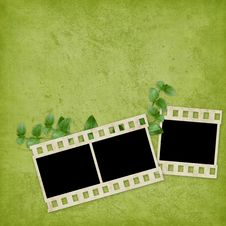 Card For The Holiday  With Plant Stock Photography