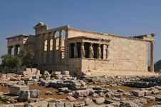 Free Erechtheion  Temple Athens And Poseydon Stock Photo - 14352920