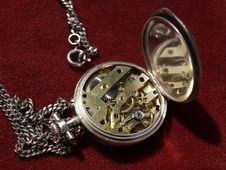 Old Pocket Clock Mechanism Stock Image