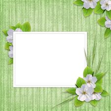 Free Card For The Holiday  With Flowers Royalty Free Stock Photography - 14353127