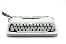 Free Typewriter Isolated On The White Background Stock Images - 14353174