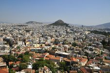 Free Overall View On Athens With Tops Acropolis Stock Photography - 14353432
