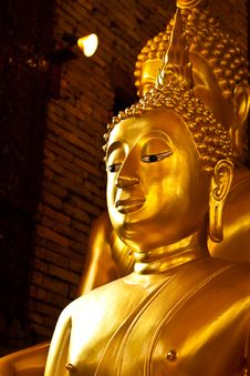 Free Golden Buddha Royalty Free Stock Image - 14353436