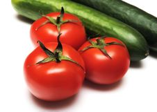 Free Tomatoes And Cucumbers Royalty Free Stock Photography - 14353607
