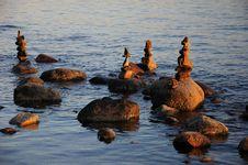 Balanced Rock Statues Royalty Free Stock Photos