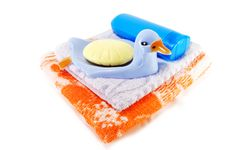 Free Towel And Soap Royalty Free Stock Photo - 14354345