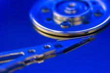 Free Hard Drive Disc Macro View Royalty Free Stock Image - 14354996