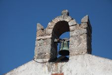 Italy Sardegna Little Bell Tower Church Romanesque Royalty Free Stock Images