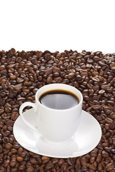 Free Coffee And Beans Royalty Free Stock Photos - 14355598