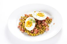 Egg Dish With Ham And Peas Royalty Free Stock Image