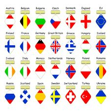 Free Flags Of European Countries. Royalty Free Stock Photography - 14356087