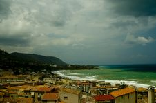 Free Cefalu Town And Ocean View Royalty Free Stock Image - 14357026