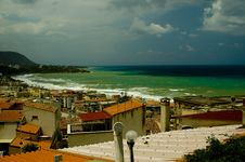 Free Cefalu Beach In The Summer Royalty Free Stock Images - 14357039
