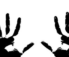 Free Black Prints Of Hands Royalty Free Stock Images - 14357079