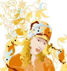 Free Orange Music Royalty Free Stock Image - 14357106