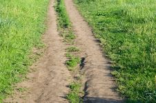 Free Road In Field Stock Image - 14357551