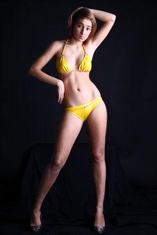 Free Yellow Bikini Stock Photo - 14358450