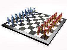 Free Warriors On The Chess-board Stock Images - 14358564