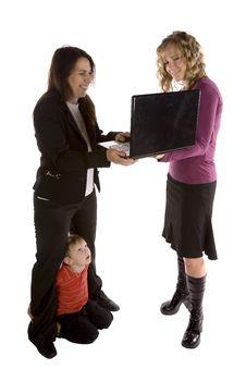 Free Happy Mom Computer Stock Photo - 14358650
