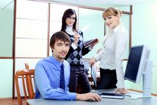Free Three Colleagues Stock Images - 14358714