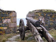 Free Ancient Cannon In Island Fort Stock Image - 14359161