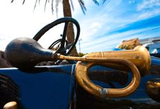 Old Style Horn Trumpet Stock Photography