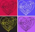 Free Set Filigree Hearts Stock Photos - 14366543