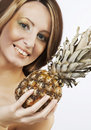 Free Woman  With Pineapple Stock Photos - 14366733