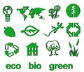 Free Set Of Green Eco & Bio Icons, Stickers And Tags Stock Photo - 14367480