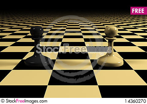Two pawns Stock Photo
