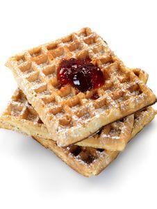 Free Breakfast Waffles Royalty Free Stock Photos - 14360228