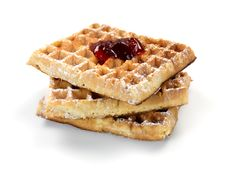 Free Breakfast Waffles Royalty Free Stock Image - 14360246