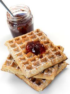 Free Breakfast Waffles Stock Image - 14360251