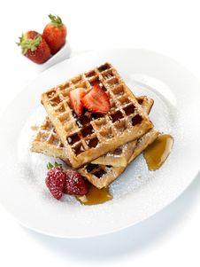 Free Breakfast Waffles Stock Photos - 14360263