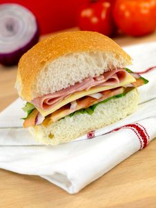 Free Ham And Salad Roll Royalty Free Stock Photography - 14360447