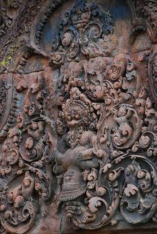 Free Sculpture Sand Stone , Siem Reap, Cambodia Stock Photos - 14360913