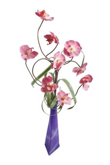 Free Orchids In Vase Stock Image - 14361651