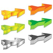 Free 3D Arrows Stock Image - 14362131