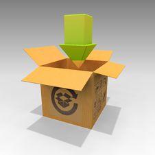 Free Cardboard Box Arrow 1.0 Stock Photos - 14362433