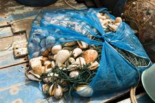 Fishing Net Will Be Dried Royalty Free Stock Photography