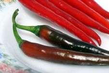Free Hot Chillies Royalty Free Stock Photography - 14362727