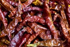 Dried Red Chilli Background Stock Photos