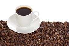 Free Cup With Coffee And Beans Stock Photos - 14363163