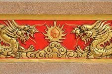 Free Golden Dragon Stock Image - 14363201