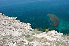 View On The Black Sea Form The High Cliff Stock Photos
