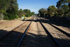 Free Rail Road Tracks Royalty Free Stock Photography - 14364127