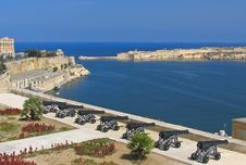 Free View To Grand Harbour Of Valetta Stock Photos - 14365293