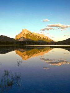 Mount Rundle Canada Rockies Banff Royalty Free Stock Photo